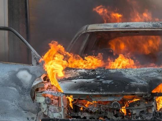 В Дубенском районе Мордовии сгорела иномарка