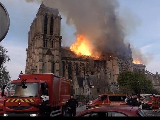 Кто поджег Нотр-Дам: пожар начался с реставрации