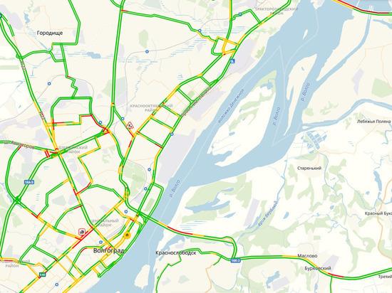 Где в Волгограде сейчас пробки на дорогах