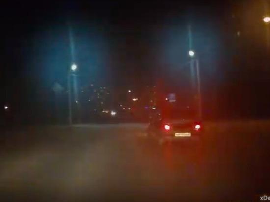 Опубликовано видео погони за пьяным водителем ВАЗа в Пскове