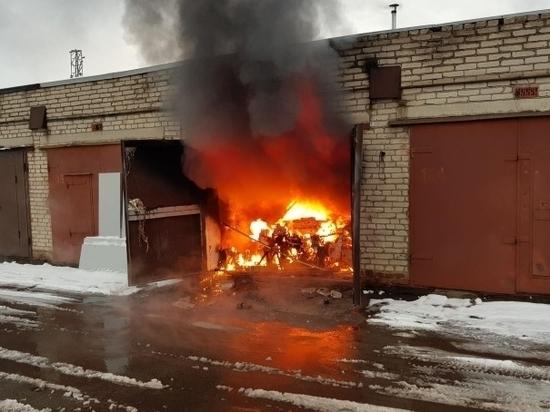 Житель Мордовии обгорел во время пожара в гараже