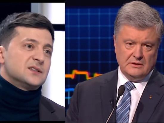 Данные опроса демонстрируют трехкратный отрыв Зеленского от Порошенко