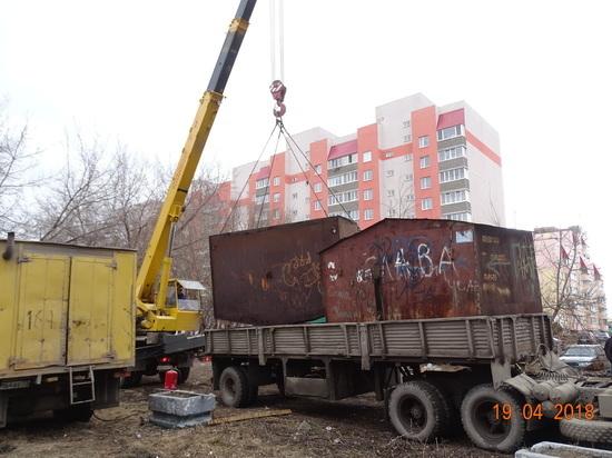 В Ульяновске демонтируют незаконно размещенные гаражи и киоски