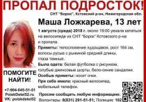 В Нижегородской области возобновляются поиски Маши Ложкаревой