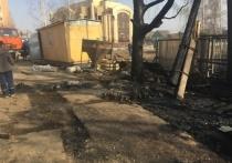 У строящейся поликлиники в Саранске загорелся утеплитель