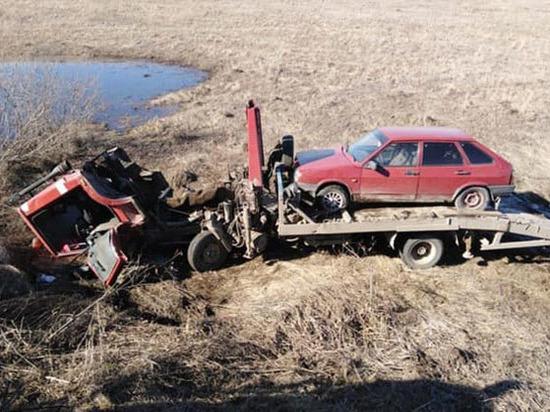 В Башкирии эвакуатор съехал в кювет – водитель погиб