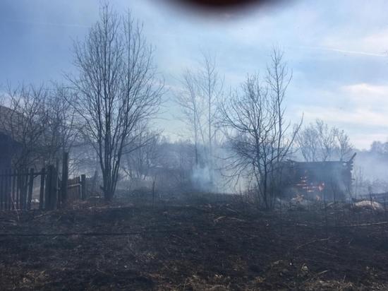 В Башкирии природный пожар в Нефтекамске уничтожил три постройки