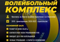 Ярославлю выделили средства на строительство волейбольного комплекса