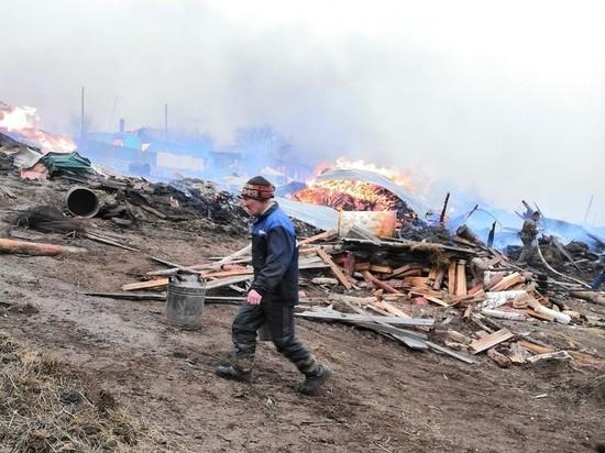 Пожар в Унде уничтожил более 4 жилых домов