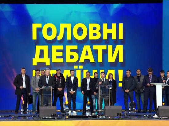 """Дебаты Порошенко и Зеленского на """"Олимпийском"""" начались с казуса"""