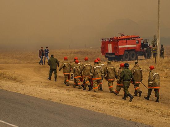 «Забайкалпожспас» выехал на защиту Верх-Тасуркая от степного пожара