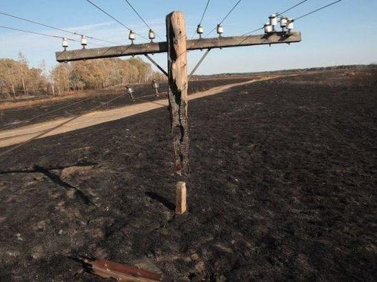 Электроопоры начали восстанавливать в Борзе и Усть-Ималке после пожара