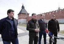 Дюмин проверил благоустройство Казанской набережной в Туле