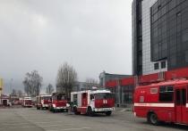 Пожарные тушили бизнес-центр на Седова