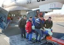 Вертолет МЧС доставил в Казань четырех пострадавших от пожара в Нижнекамске