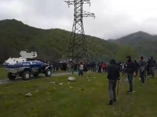 Появилось видео столкновения чеченцев со спецназом в Панкисском ущелье
