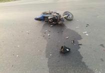 В Рязани москвичка на иномарке не уступила дорогу мотоциклисту без прав