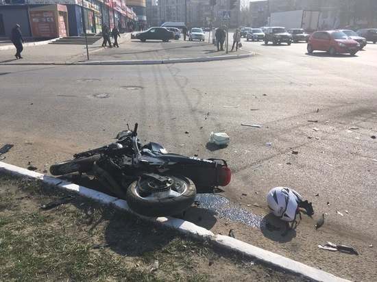В ДТП в Саранске пострадал мотоциклист