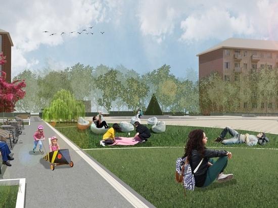 Ароматные цветы и «звучащие деревья»: показываем проект «тактильного сквера» на Свердловской