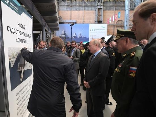 Путину показали спуск первой подлодки-носителя системы «Посейдон»