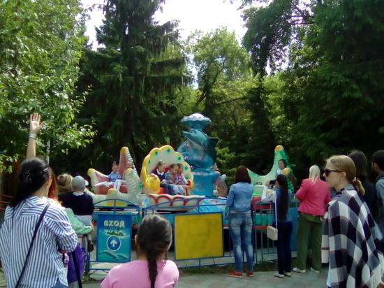 В парке 30-летия ВЛКСМ завелась «Большая гусеница»