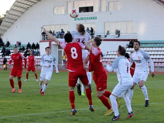 Футбол в Крыму: определилась тройка претендентов на чемпионство