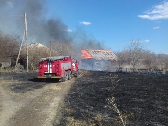 Поджог травы едва не уничтожил поселок в Новосибирской области
