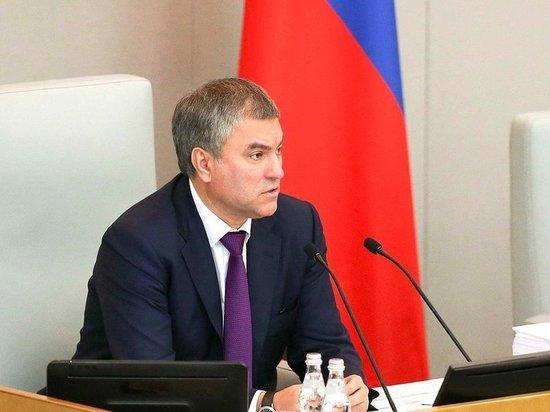 Володин считает правильным решение выдать паспорта жителям ДНР