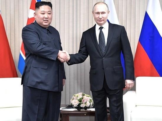 Путин на приеме поднял тост за здоровье Ким Чен Ына