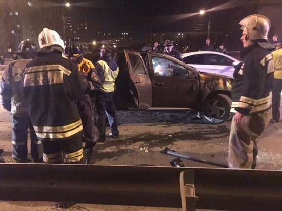 В Саранске пьяный водитель въехал в дорожное ограждение