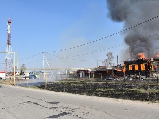 В МЧС Мордовии назвали причину пожара в поселке Зыково