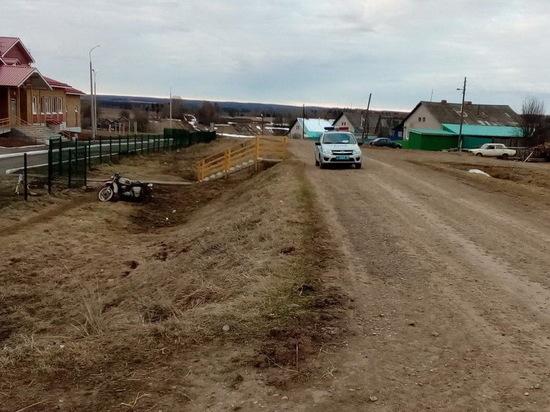 В Удмуртии пьный водитель перевернулся на мотоцикле