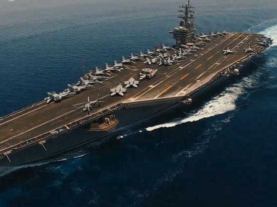 Иранский дрон снял в деталях американский авианосец в Персидском заливе