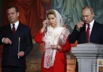 Путин и Медведев поздравили православных христиан с Пасхой