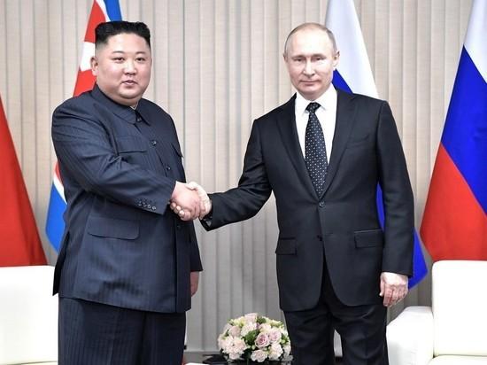 Песков сообщил подробности переговоров Путина и Ким Чен Ына
