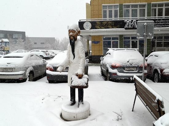 Ночью в Красноярске выпал снег
