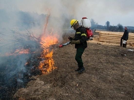 В регионе начался пожароопасный сезон