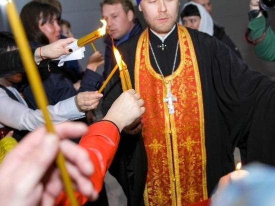 В Саранск привезли благодатный огонь