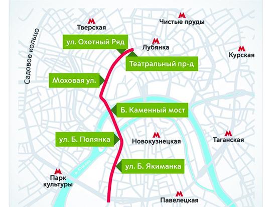 1 мая перекроют улицы в центре Москвы