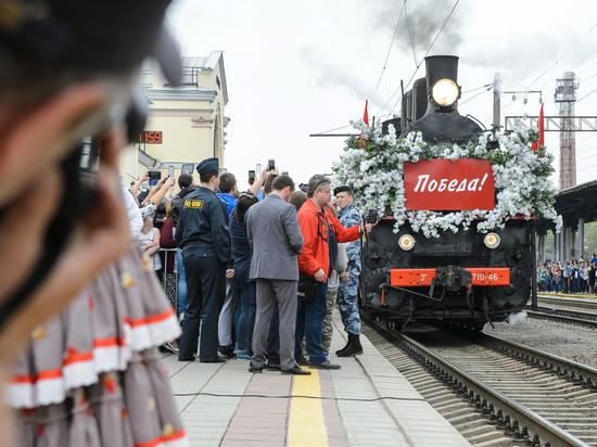 Гудок длиной в 74 года: в Воронеж прибыл «Поезд Победы»