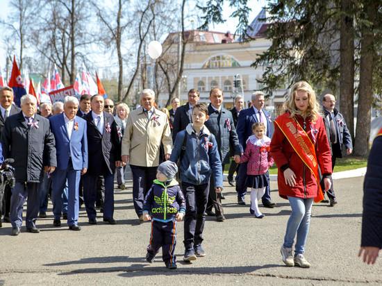 В Саранске Первомайское шествие собрало 5 тысяч человек