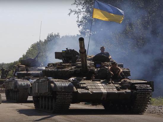 На позициях ВСУ в Донбассе вывесили флаг армии Гитлера