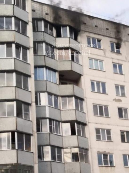 В Железногорске загорелась квартира многоэтажки: в пожаре погибла женщина