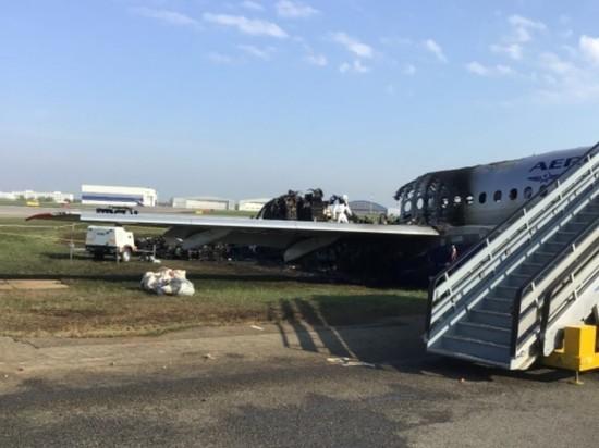 Сгоревший SSJ убрали с взлетной полосы в Шереметьево