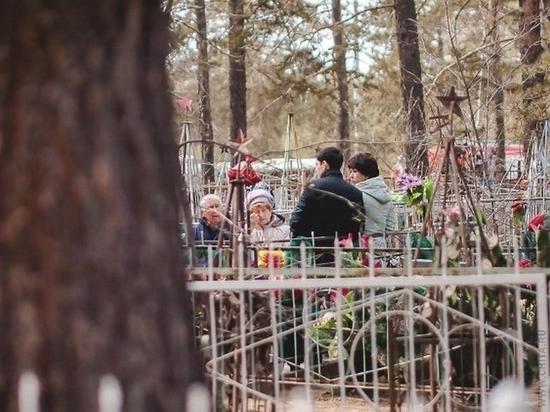 На Центральном кладбище Хабаровска расхищают железные оградки