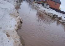 Салехардцы сообщили о полном затоплении микрорайона Удача