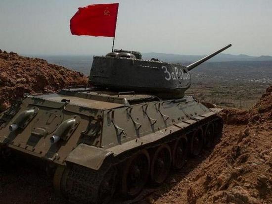 В армии Сирии появился танк Т-34 «За Родину»