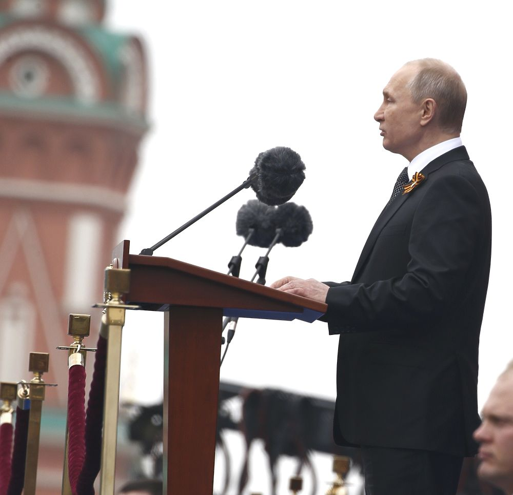 Путин, ветераны, техника на Параде Победы-2019