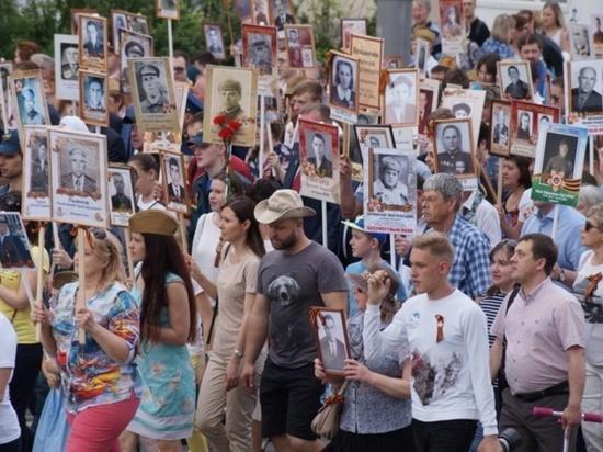 В «Бессмертном полку» в Иванове шли почти двадцать восемь тысяч участников