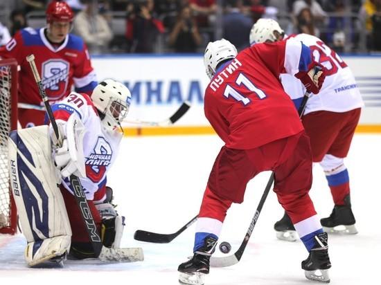 Путин забросил 10 шайб на гала-матче Ночной хоккейной лиги